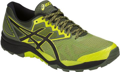 Кроссовки внедорожники мужские Asics Gel Fujitrabuco 6 черные-желтые