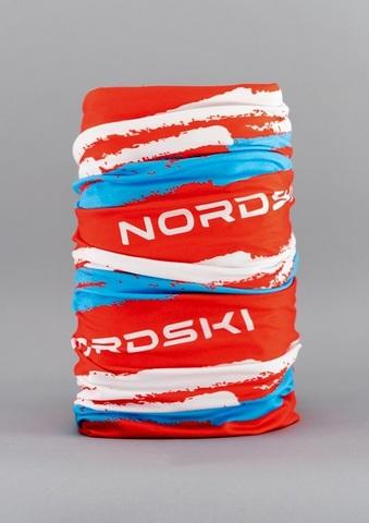 Nordski Stripe многофункциональный баф red-blue