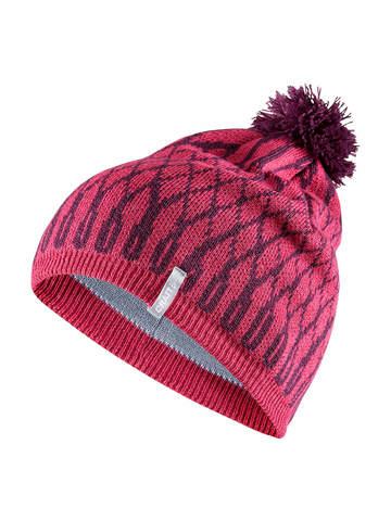 Лыжная шапка Craft Snowflake pink