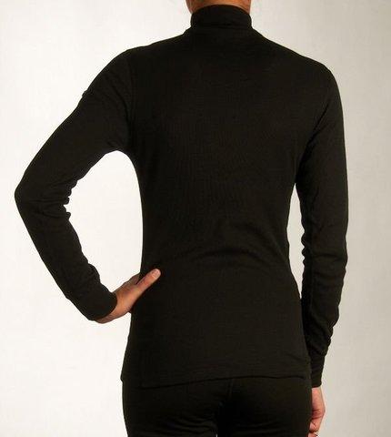 Odlo Warm женская терморубашка с воротником-стойкой черная
