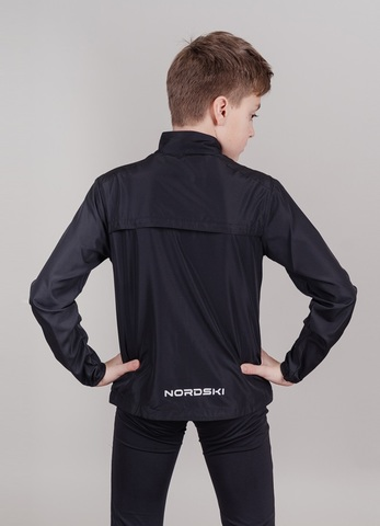 Nordski Jr Motion куртка для бега детская Black/Yellow