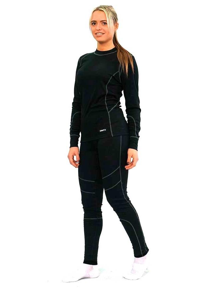 Craft Baselayer комплект термобелья женский черный - 3