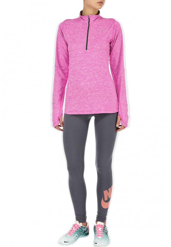 Футболка Nike Element 1/2 ZIP (W) /Рубашка беговая сиреневая - 3