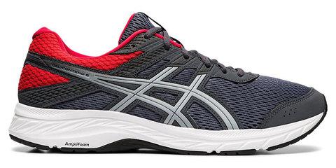 Asics Gel Contend 6 кроссовки для бега мужские серые-красные