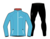 Nordski Premium беговой костюм женский Black-Blue - 1