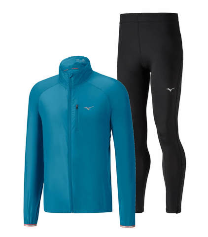 Mizuno Impulse Impermalite Core костюм для бега мужской синий