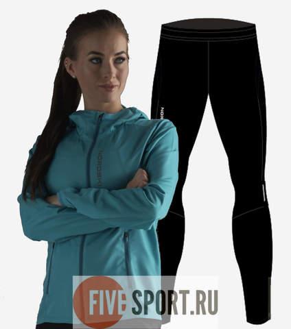Nordski Run Premium костюм для бега женский Dark Breeze-Black
