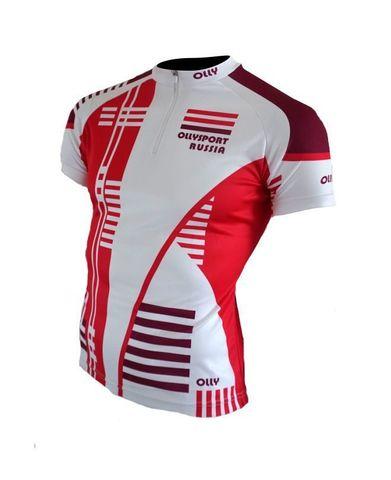 Olly Sport футболка беговая белая-красная