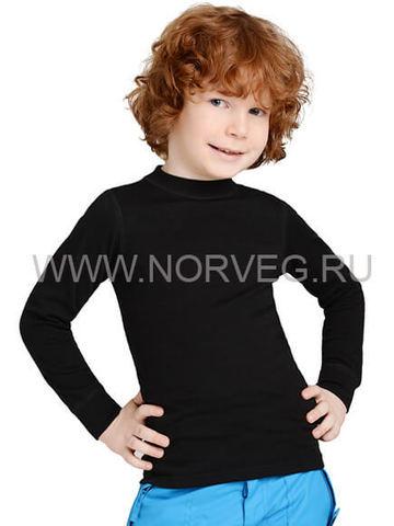 Термобелье рубашка Norveg Active Kids детская с длинным рукавом чёрная