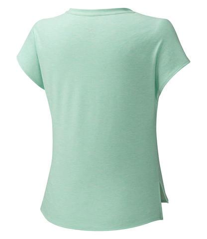 Mizuno Style Tee укороченная беговая футболка женская