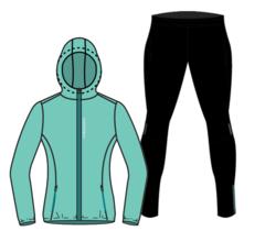 Nordski Run Premium костюм для бега женский Light Breeze-Black