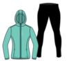 Nordski Run Premium костюм для бега женский Light Breeze-Black - 1
