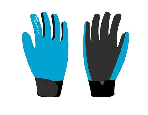 Nordski Racing National  Jr детские лыжные перчатки голубые