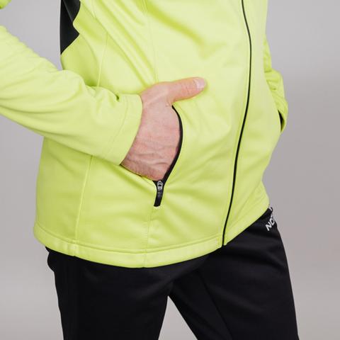Nordski Jr Base тренировочная куртка детская lime-black