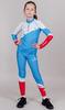 Nordski Jr Premium RUS детский гоночный комбинезон blue - 1