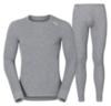 Odlo Warm мужской комплект термобелья серый меланж - 1