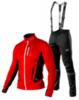 Victory Code Speed Up разминочный лыжный костюм с лямками red - 1