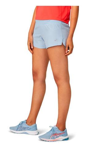 """Asics Road 3.5"""" Short шорты для бега женские голубые"""