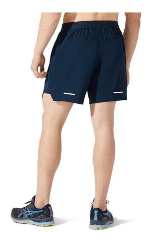 """Asics Road 7"""" Short шорты для бега мужские темно-синие"""