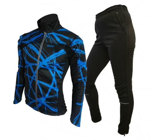 Olly Bright Sport лыжный разминочный костюм blue
