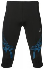 Беговые тайтсы мужские Asics Stripe Knee черные-синие