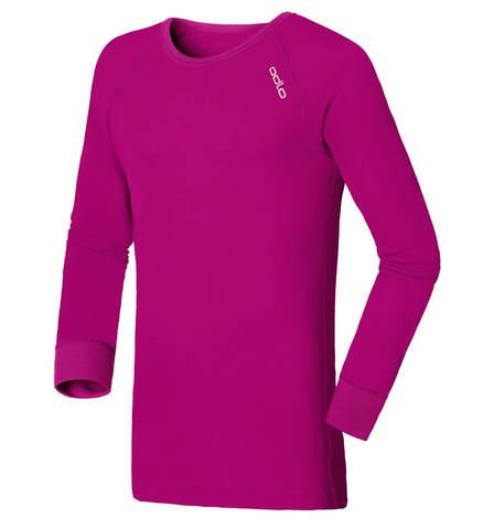 Odlo Warm детское термобелье рубашка violet pink