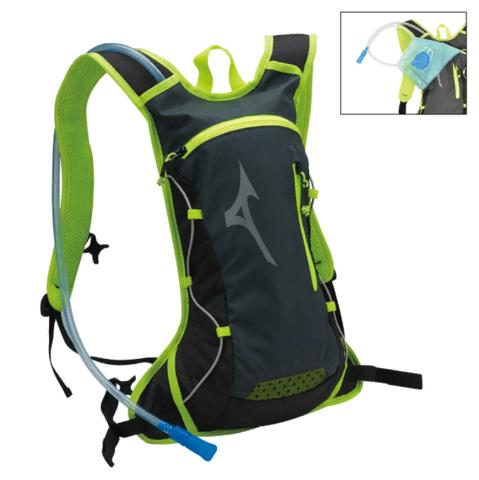 Mizuno Running Backpack рюкзак черный-зеленый