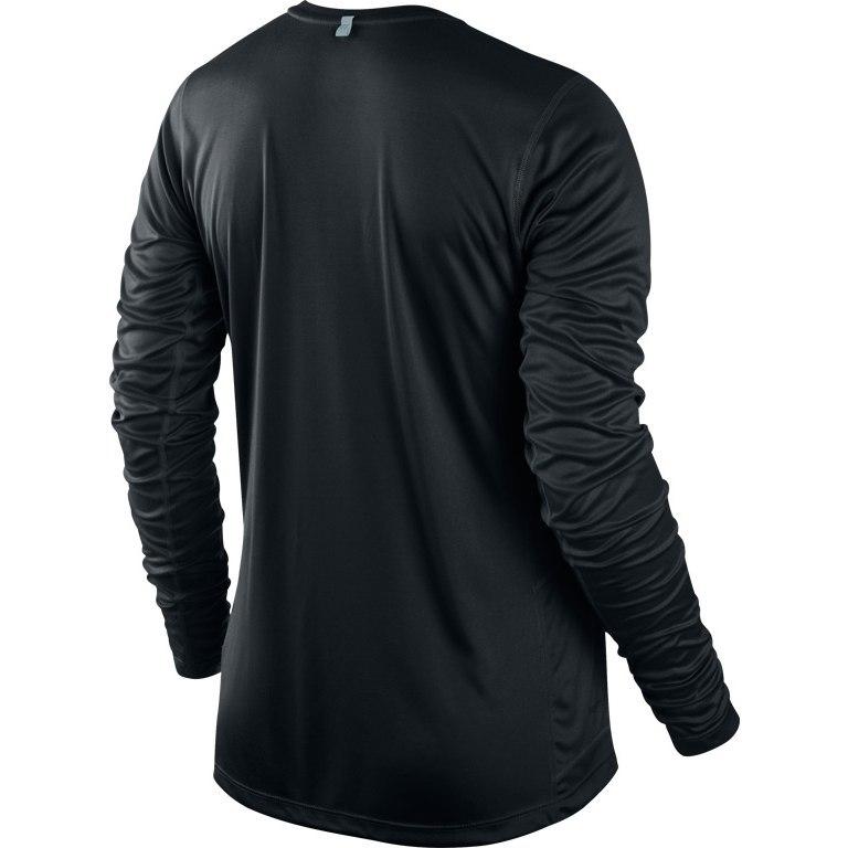 Футболка Nike Miler LS Top (W) /Рубашка беговая чёрная - 2