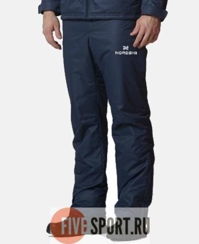 Nordski Premium зимние лыжные брюки мужские темно-синие