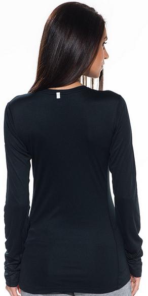 Футболка Nike Miler LS Top (W) /Рубашка беговая чёрная - 4