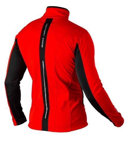 Victory Code Speed Up разминочный лыжный костюм с лямками red