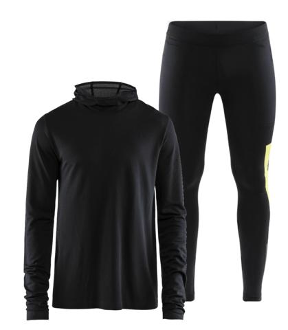 Craft Core Fuseknit Urban мужской костюм для бега черный