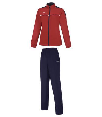 Спортивный костюм женский Mizuno Micro Tracksuit красный-синий