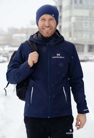 Nordski Urban утепленная куртка мужская синяя