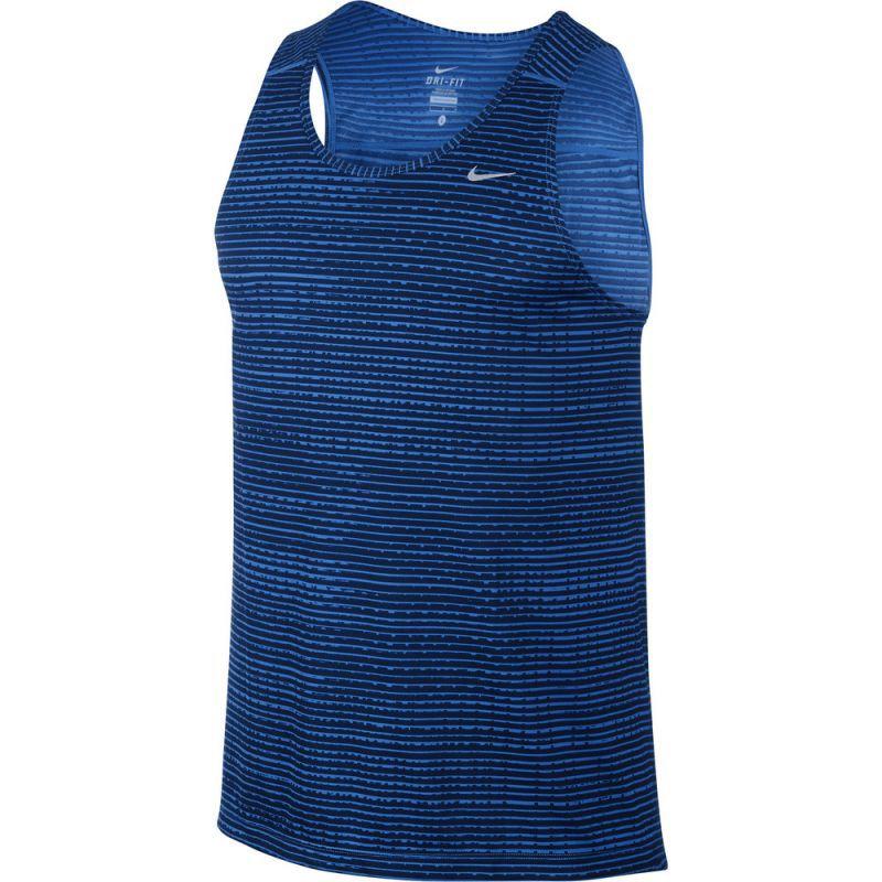 Майка л/а Nike Printed Miler Singlet синяя