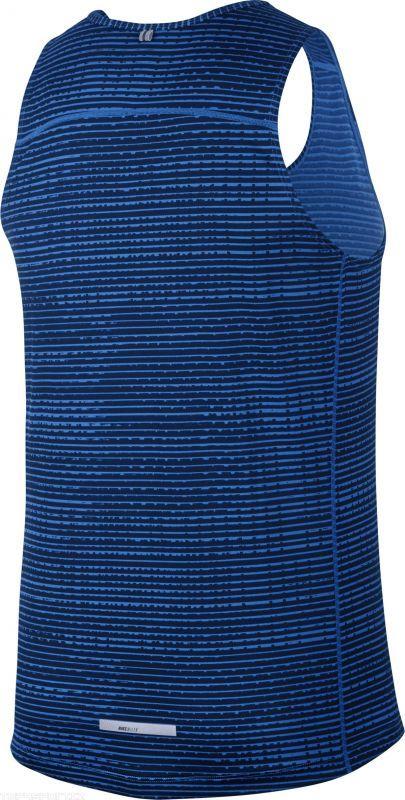 Майка л/а Nike Printed Miler Singlet синяя - 2