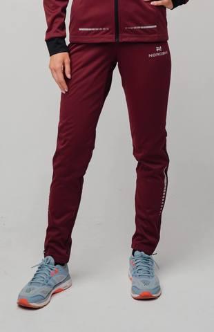 Nordski Pro разминочные лыжные брюки женские wine