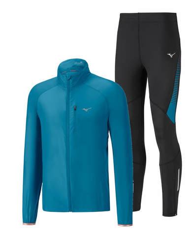 Mizuno Impulse Impermalite Static Bt костюм для бега мужской синий-черный