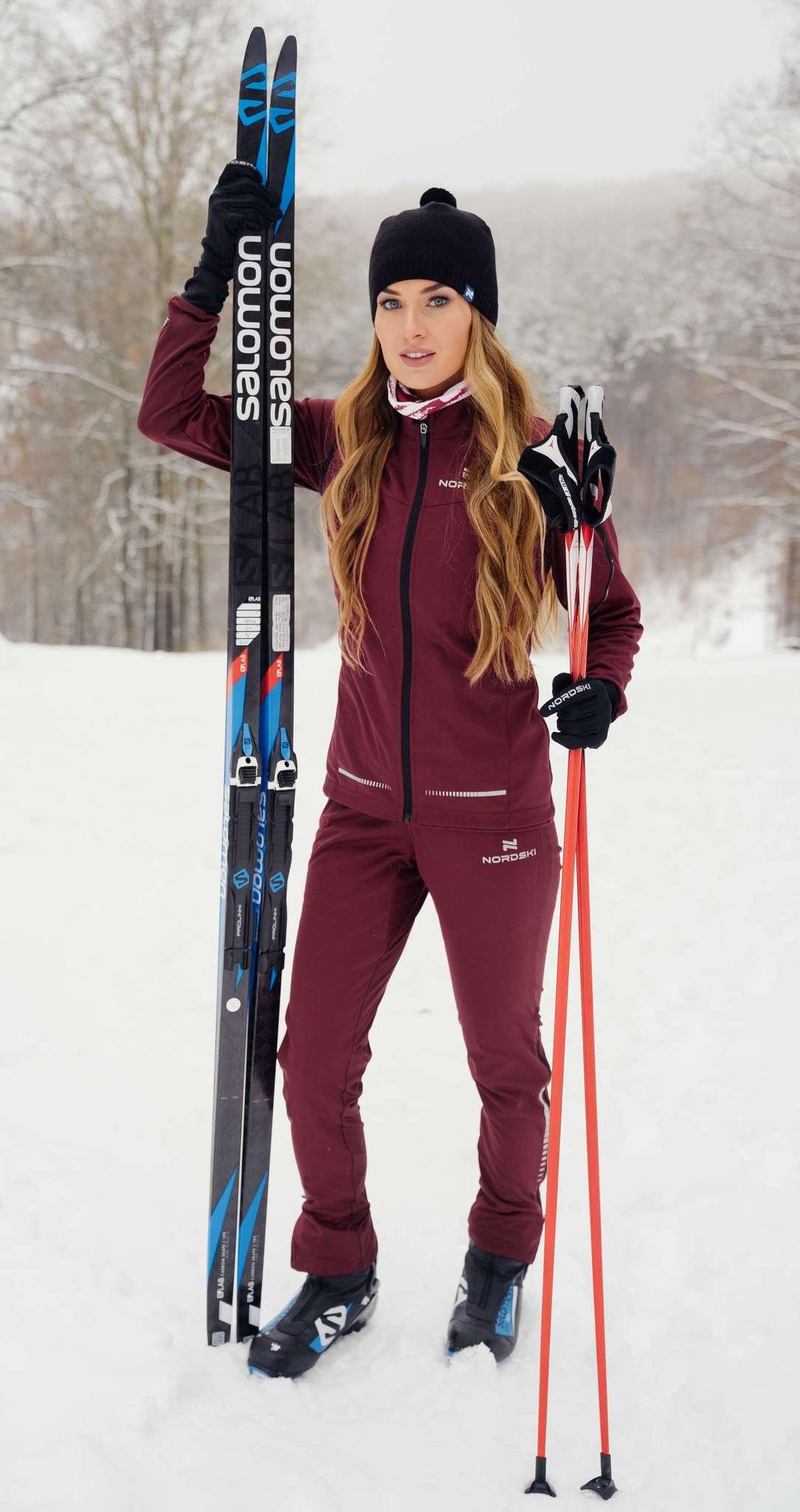 Nordski Pro лыжный костюм женский wine - 3