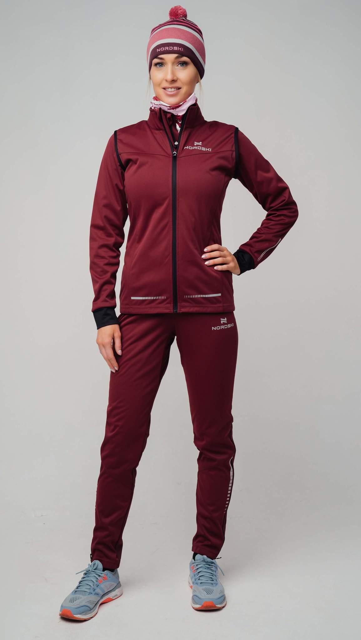 Nordski Pro лыжный костюм женский wine