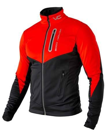 Victory Code Go Fast Warm разминочный лыжный костюм со спинкой red