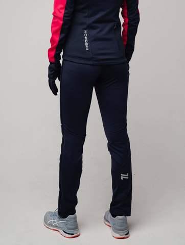 Nordski Premium разминочные лыжные брюки женские blueberry