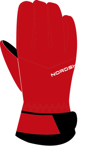 Nordski Arctic Membrane перчатки black-red