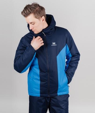 Теплая прогулочная куртка мужская Nordski Base iris-blue