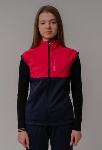 Nordski Jr Premium детский лыжный жилет pink-blueberry