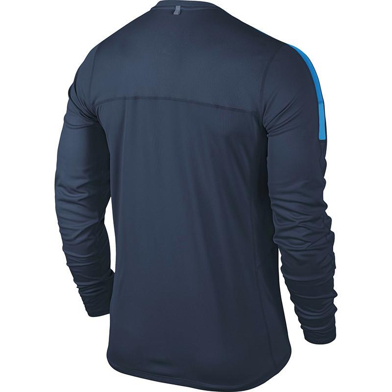 Футболка Nike Racer LS /Рубашка беговая тёмно-синяя - 2