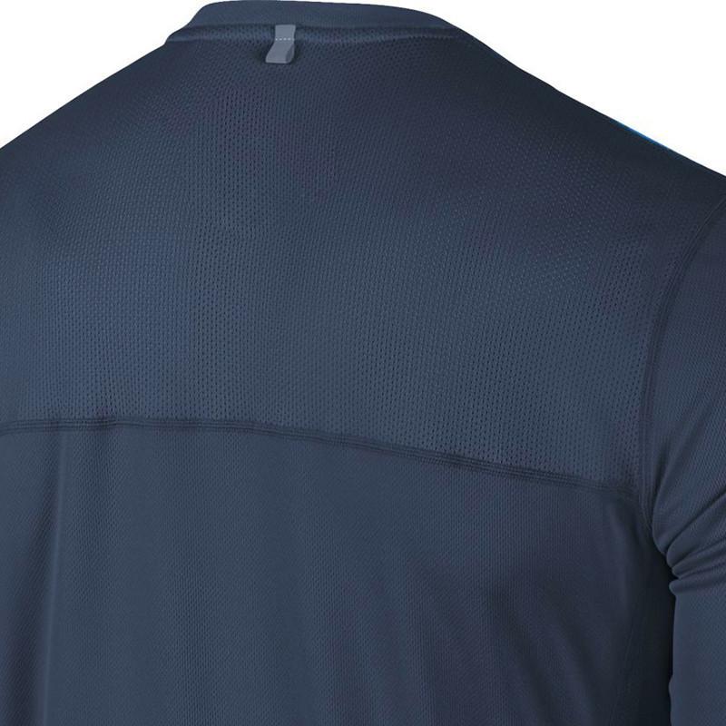 Футболка Nike Racer LS /Рубашка беговая тёмно-синяя - 3