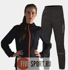 Nordski Run костюм для бега женский Black-Orange