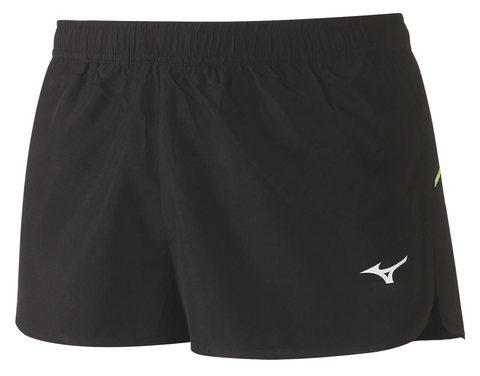 Беговые шорты мужские Mizuno Premium Jpn Split черные