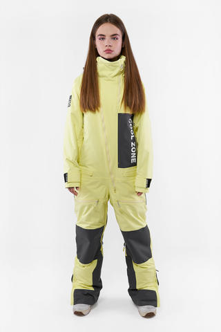 Cool Zone Rock комбинезон для сноуборда женский лимонный-асфальт